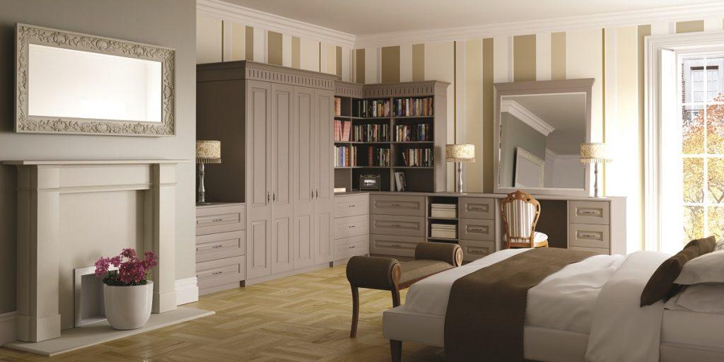grey built in wardrobes