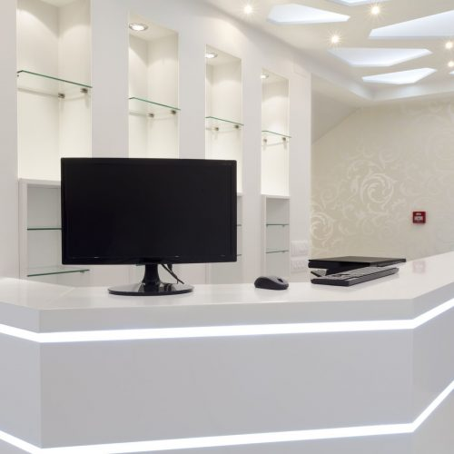 hotel reception counters